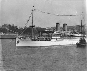 The Nieuw Zeeland in Sydney Harbour 1932