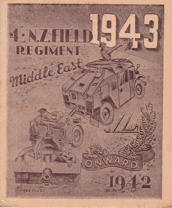4 N.Z. Field Regiment Christmas Card 1942Lemuel Lyes Collection