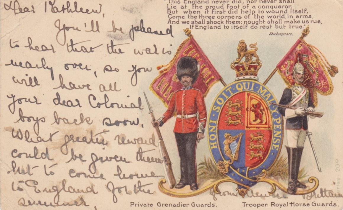 Boer War PostcardLemuel Lyes Collection