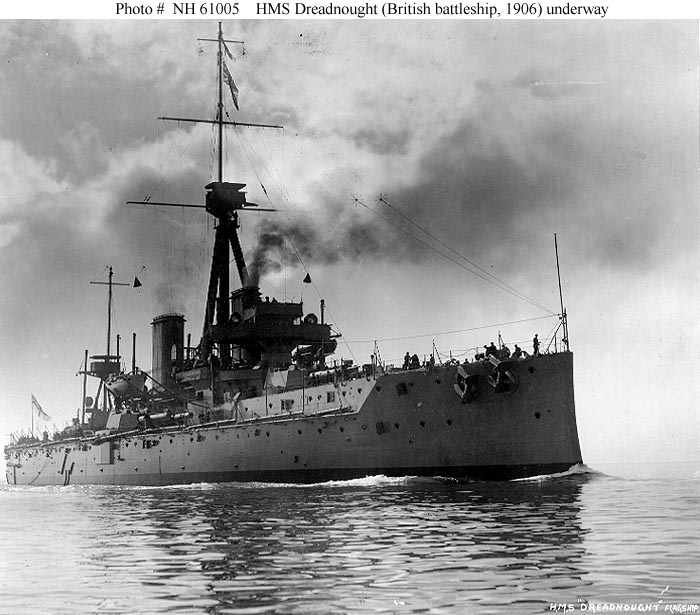 HMS DreadnoughtU.S. Naval History & Heritage Command Photograph