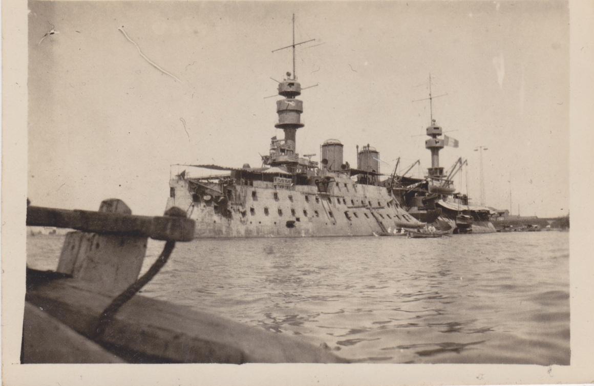 French Warship, Port Said 1917