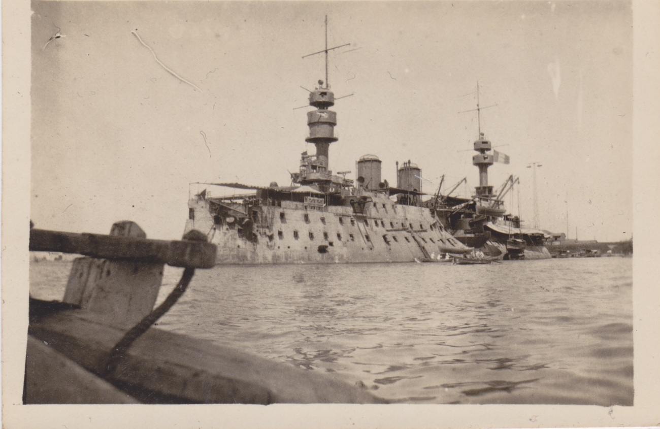 French Warship, Port Said 1917