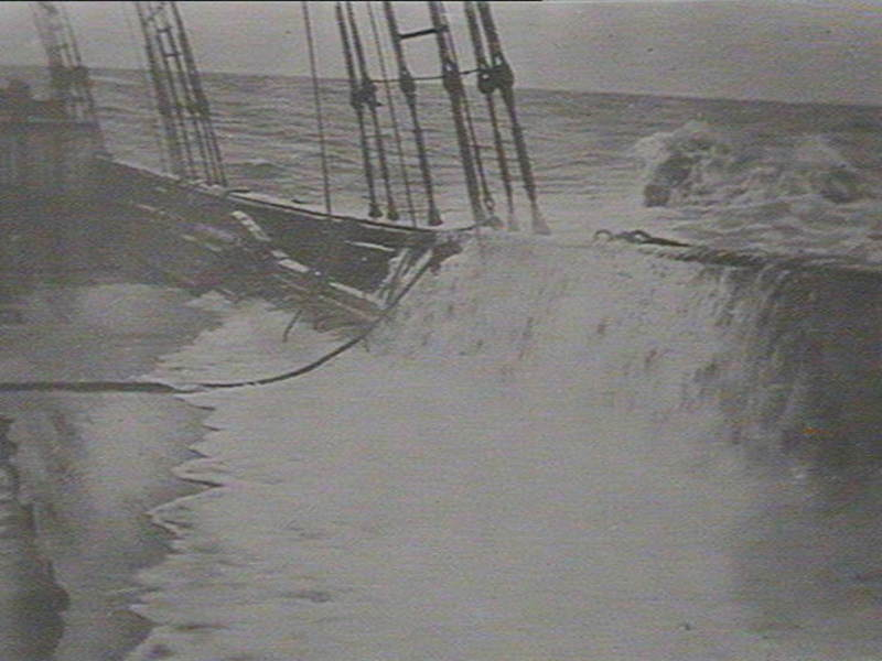 Storm breaking on deck of Holmwood Mitchell Library, State Library of NSW 1 - 47268