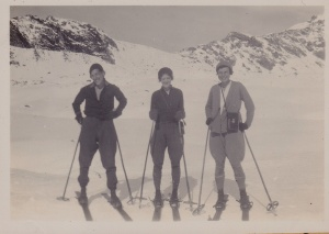 Skiing at Mt. Cook, 1933 Lemuel Lyes Collection