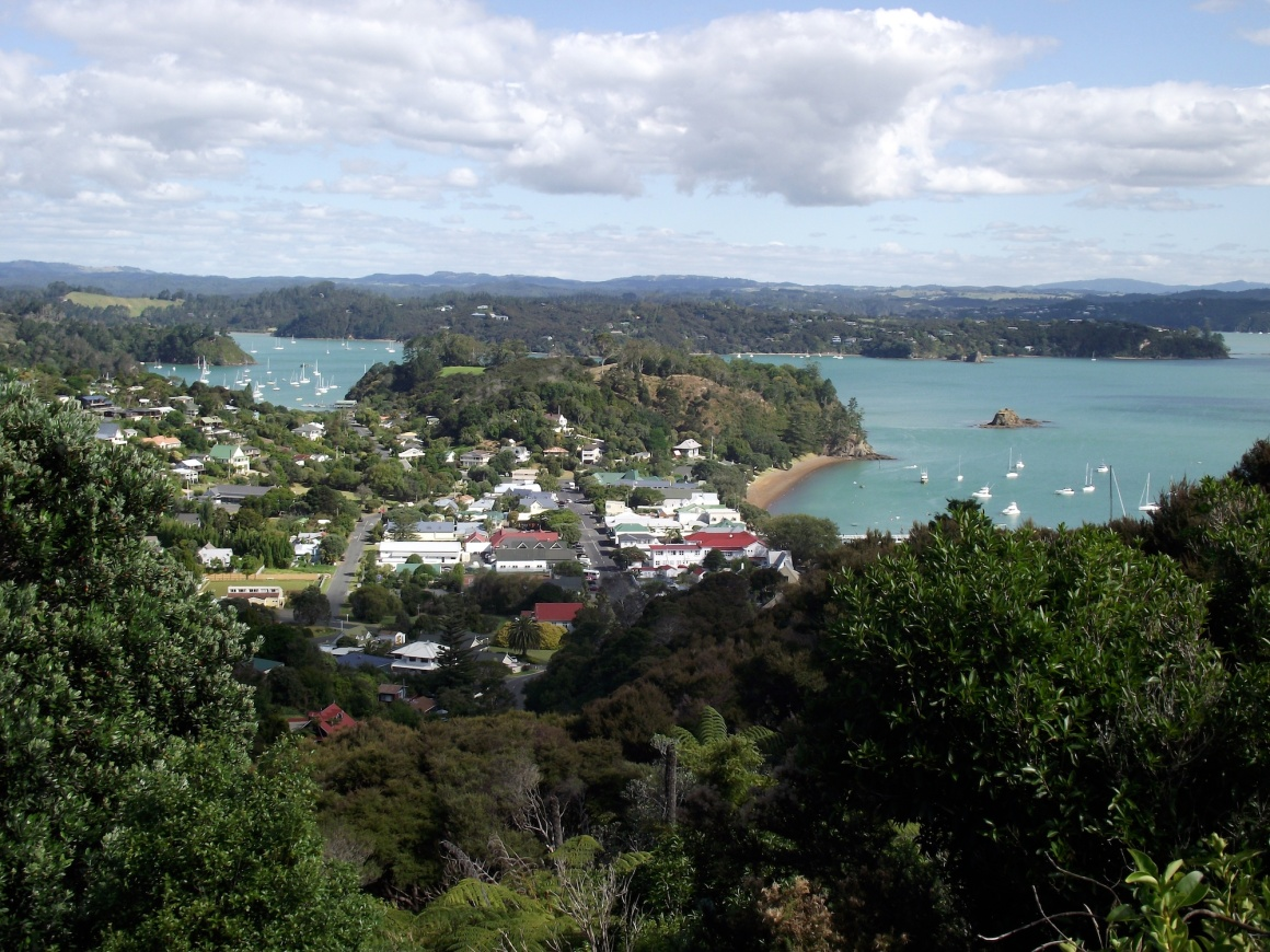 View of the town formerly known as Kororareka - now called Russell © Lemuel Lyes 2013