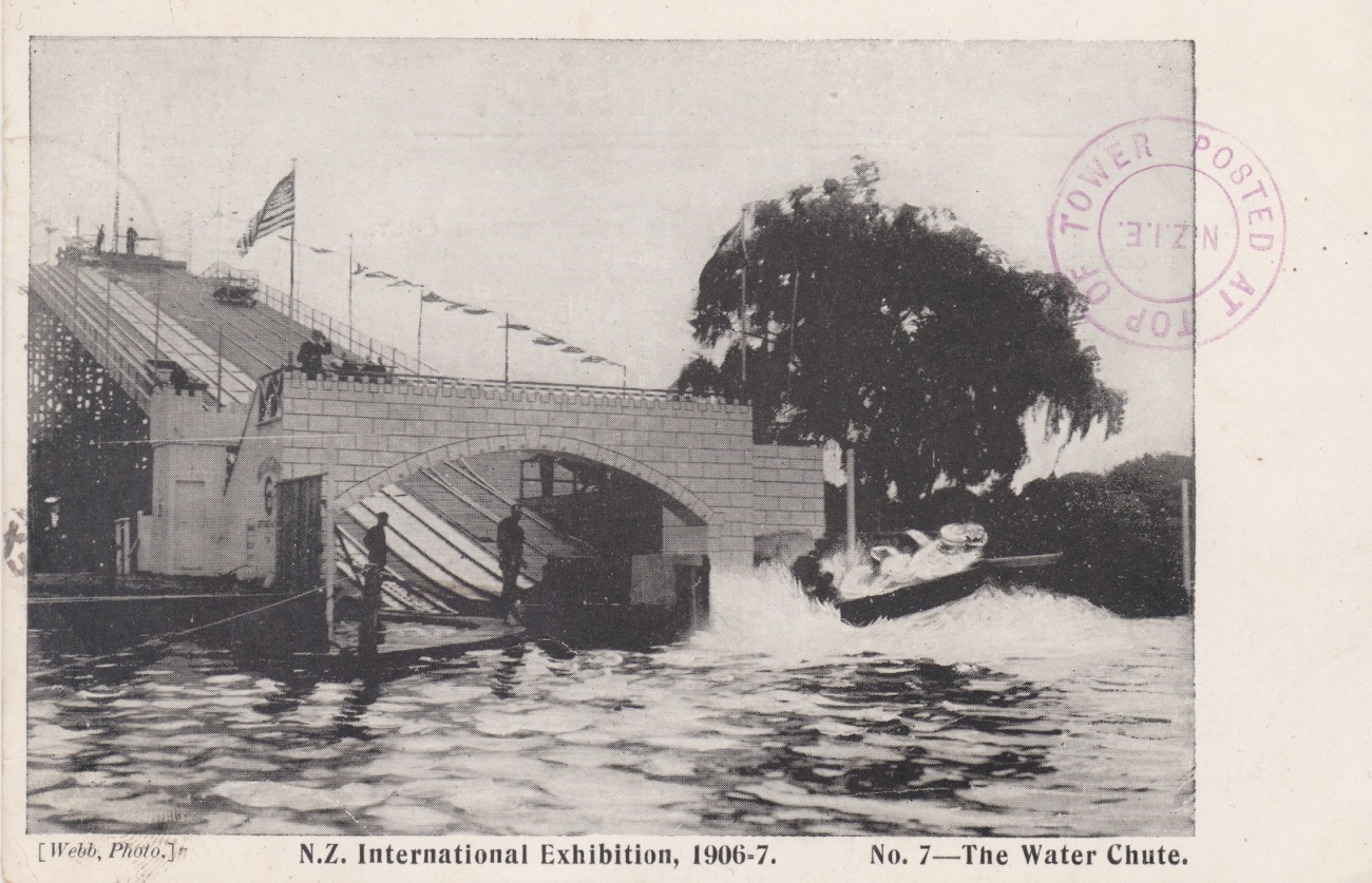 Water Chute at the N.Z. International Exhibition in Christchurch 1906/7 Lemuel Lyes Collection