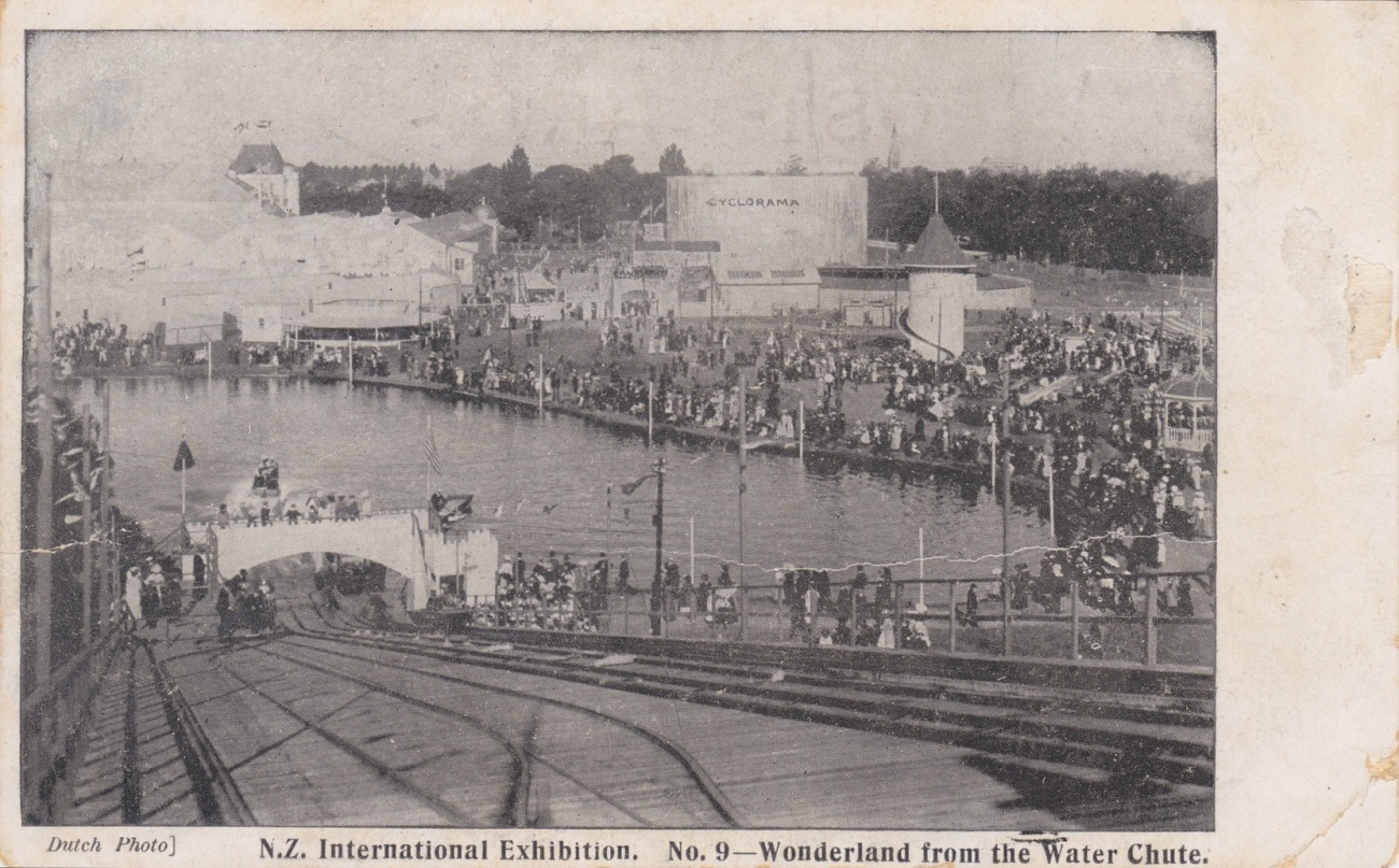 'Wonderland' from the Water Chute at the N.Z. International Exhibition, Christchurch 1906/7 Lemuel Lyes Collection