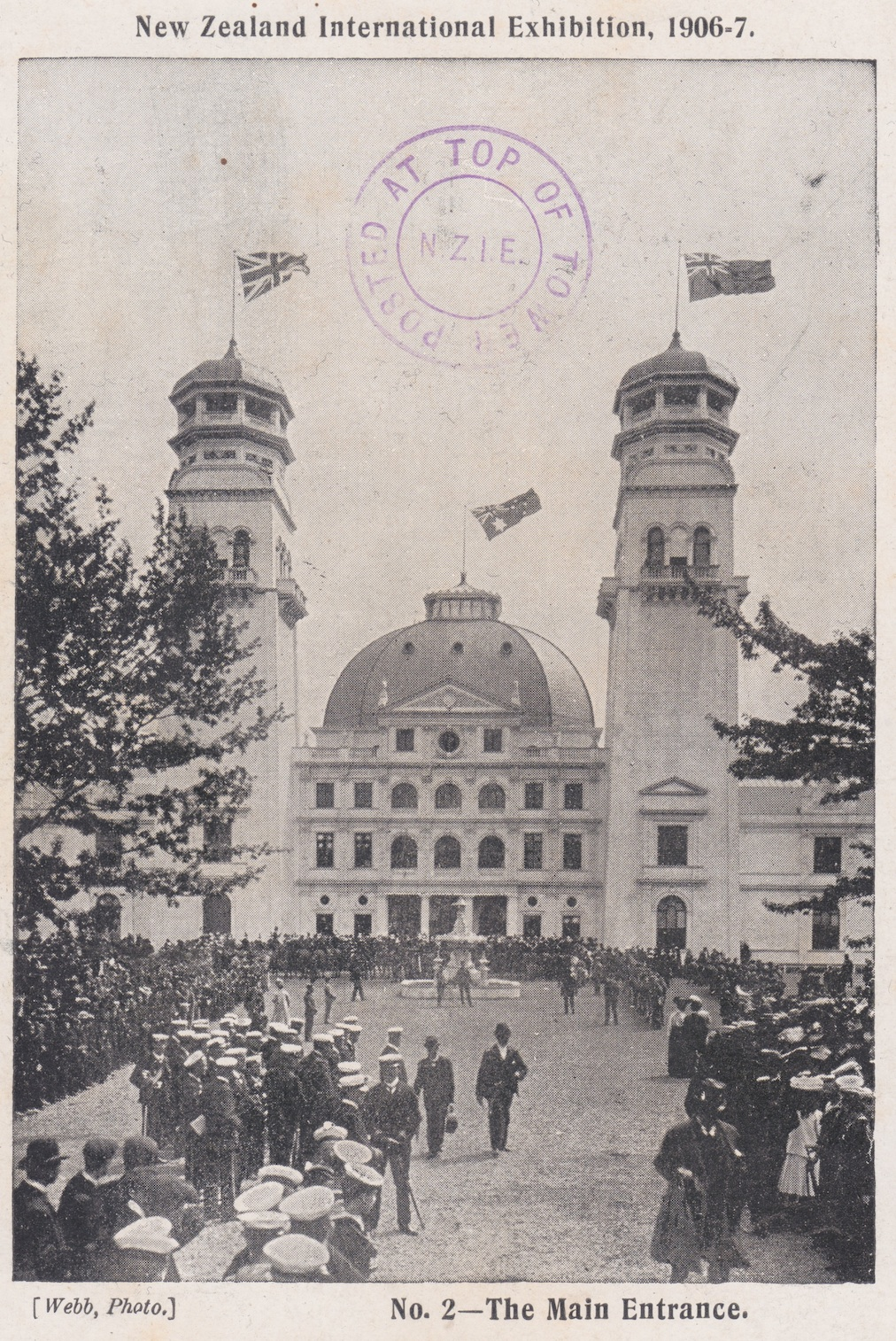 Entrance to the N.Z. Exhibition, Christchurch 1906-7. Lemuel Lyes Collection