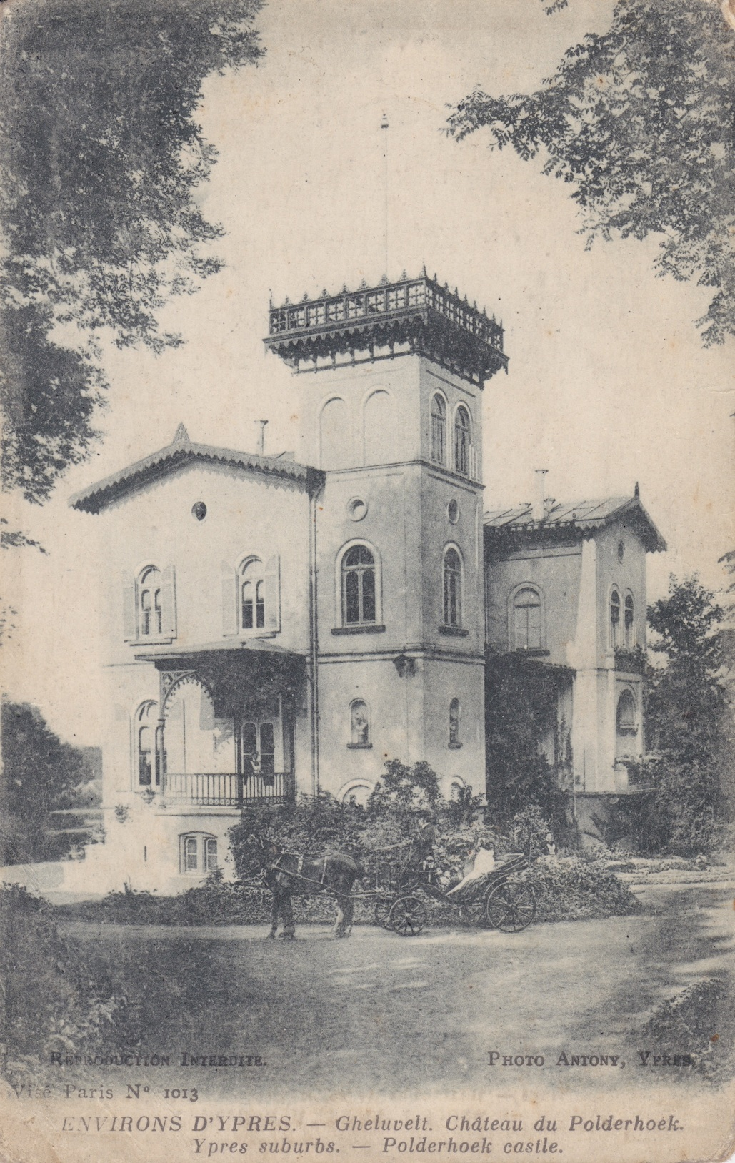 Pre-War view of Polderhoek Chateau Lemuel Lyes Collection