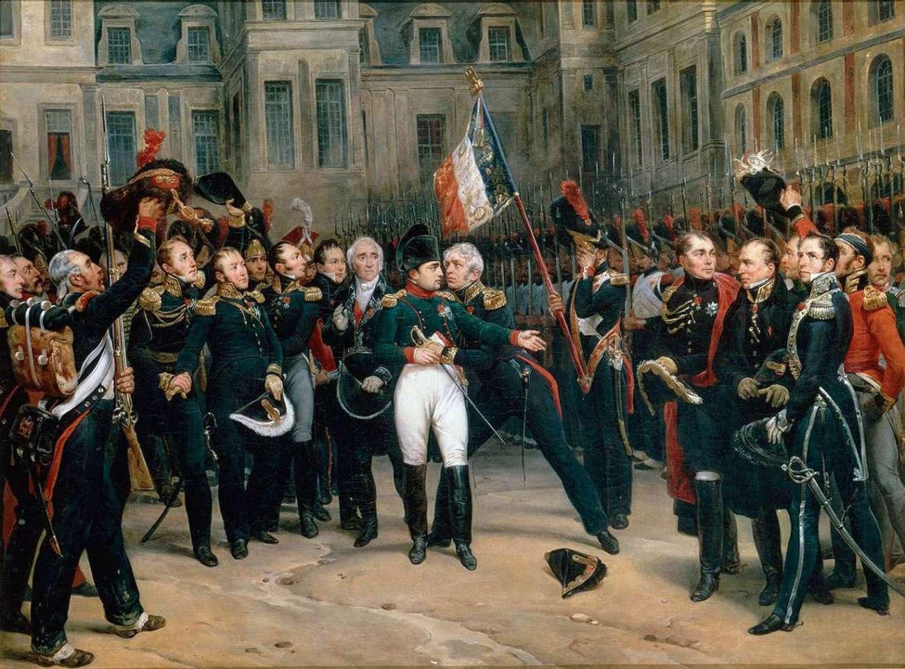 Napoleon farewells the Imperial Guard, 1814 Wikipedia Commons