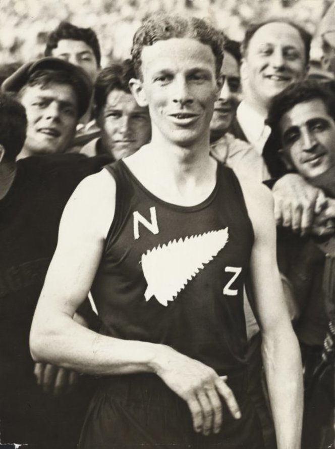 Associated Press. Jack Lovelock after his victory in the `mile of the century' - Photograph taken by the Associated Press. New Zealand Free Lance : Photographic prints and negatives. Ref: PAColl-8163-31. Alexander Turnbull Library, Wellington, New Zealand. http://natlib.govt.nz/records/22453630