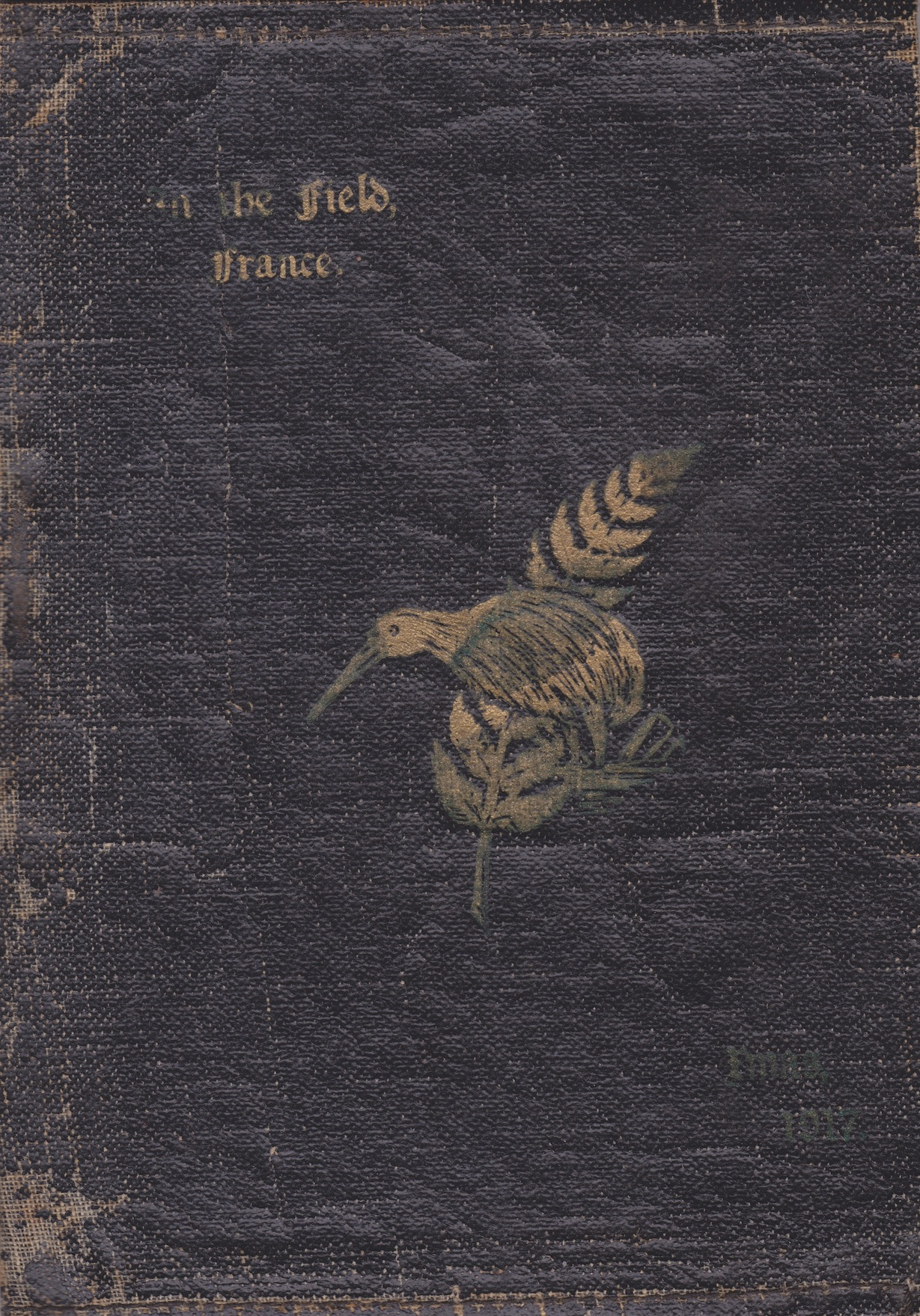 Silver Fern and Kiwi on cover of First World War stationary kit Lemuel Lyes Collection
