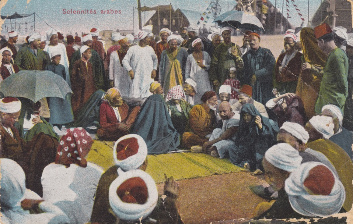Egyptian Postcard sent to New Zealand in December 1914 Lemuel Lyes Collection