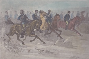 Charge of the New Zealand Cavalry at the Battle of Orakau Lemuel Lyes Collection