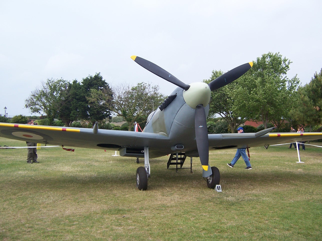 Spitfire on display at Portsmouth © Lemuel Lyes
