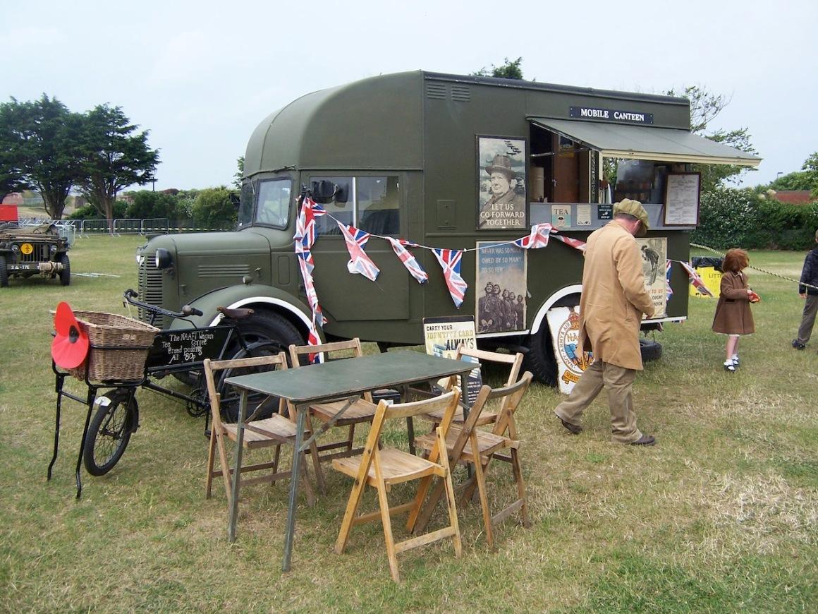 Vintage WW2 Mobile Canteen on display © Lemuel Lyes 2009