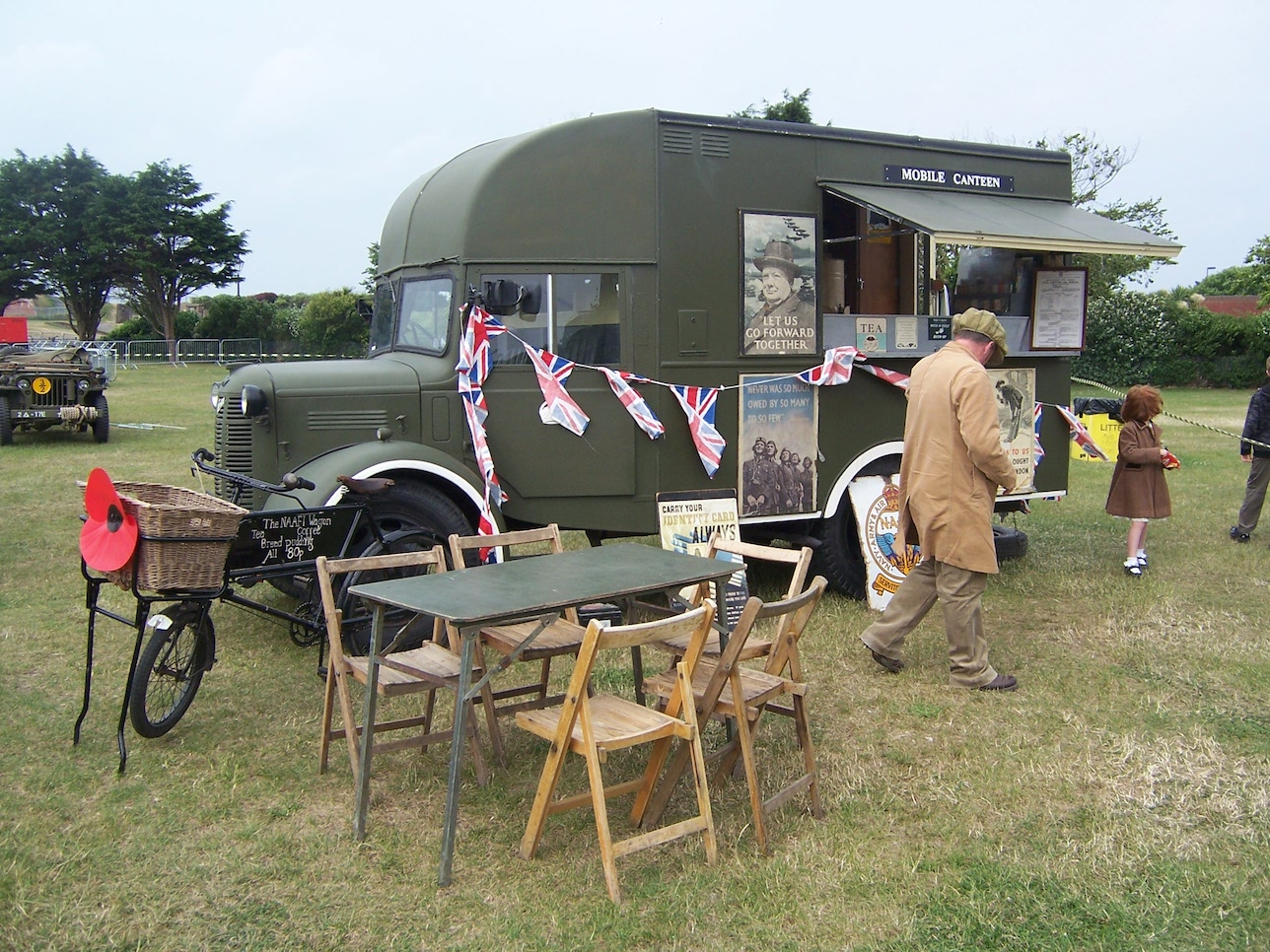 Vintage WW2 Mobile Canteen on display © Lemuel Lyes 2009