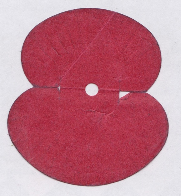 Souvineer poppy from 65th anniversary of the D-Day landings Lemuel Lyes Collection