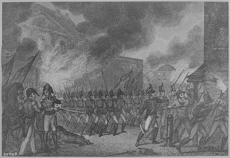 """""""Capture of the City of Washington,"""" August 1814 Wikimedia Commons - Public Domain"""