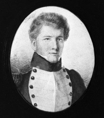 Drawing of Arthur Wakefield in uniform. Ref: 1/2-018885-F. Alexander Turnbull Library, Wellington, New Zealand. http://natlib.govt.nz/records/22913980
