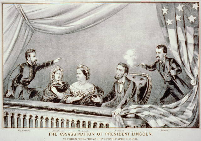 The assassination of President Lincoln: at Ford's Theatre, Washington, D.C., April 14th, 1865  Library of Congress