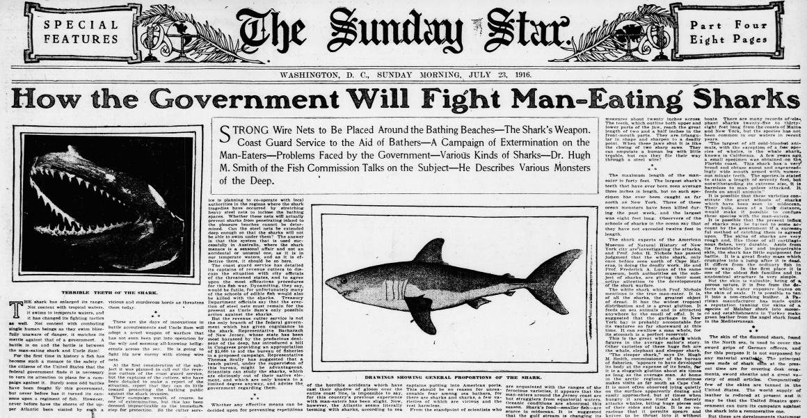 Evening star. (Washington, D.C.), 23 July 1916. Chronicling America: Historic American Newspapers. Lib. of Congress. <http://chroniclingamerica.loc.gov/lccn/sn83045462/1916-07-23/ed-1/seq-37/