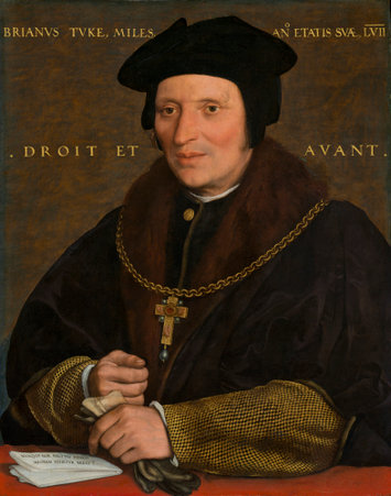 Sir Brian Tuke was appointed as 'Master of the Postes' by Henry VIII Hans Holbein the Younger (German, 1497/1498 - 1543 ), Sir Brian Tuke, c. 1527/1528 or c. 1532/1534, oil on panel, Andrew W. Mellon Collection