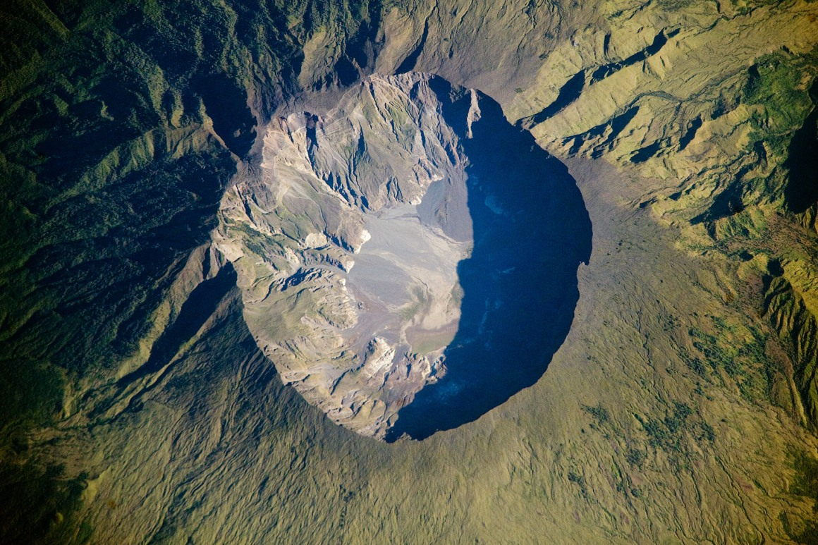 Mount Tambora Volcano, Sumbawa Island, Indonesia. NASA Earth Observatory
