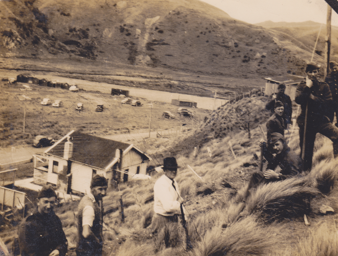 Home Guardsmen at Makara Beach. Lemuel Lyes Collection.