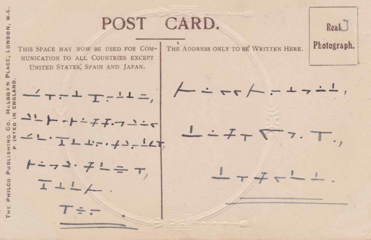 the edwardian code a postcard with a secret message history geek