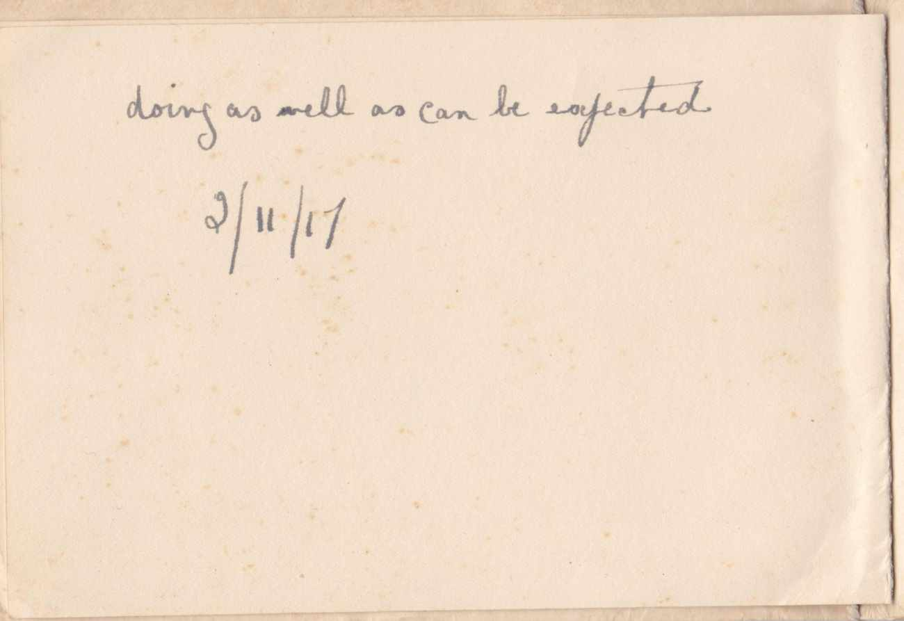 Xmas Card 1917 Back