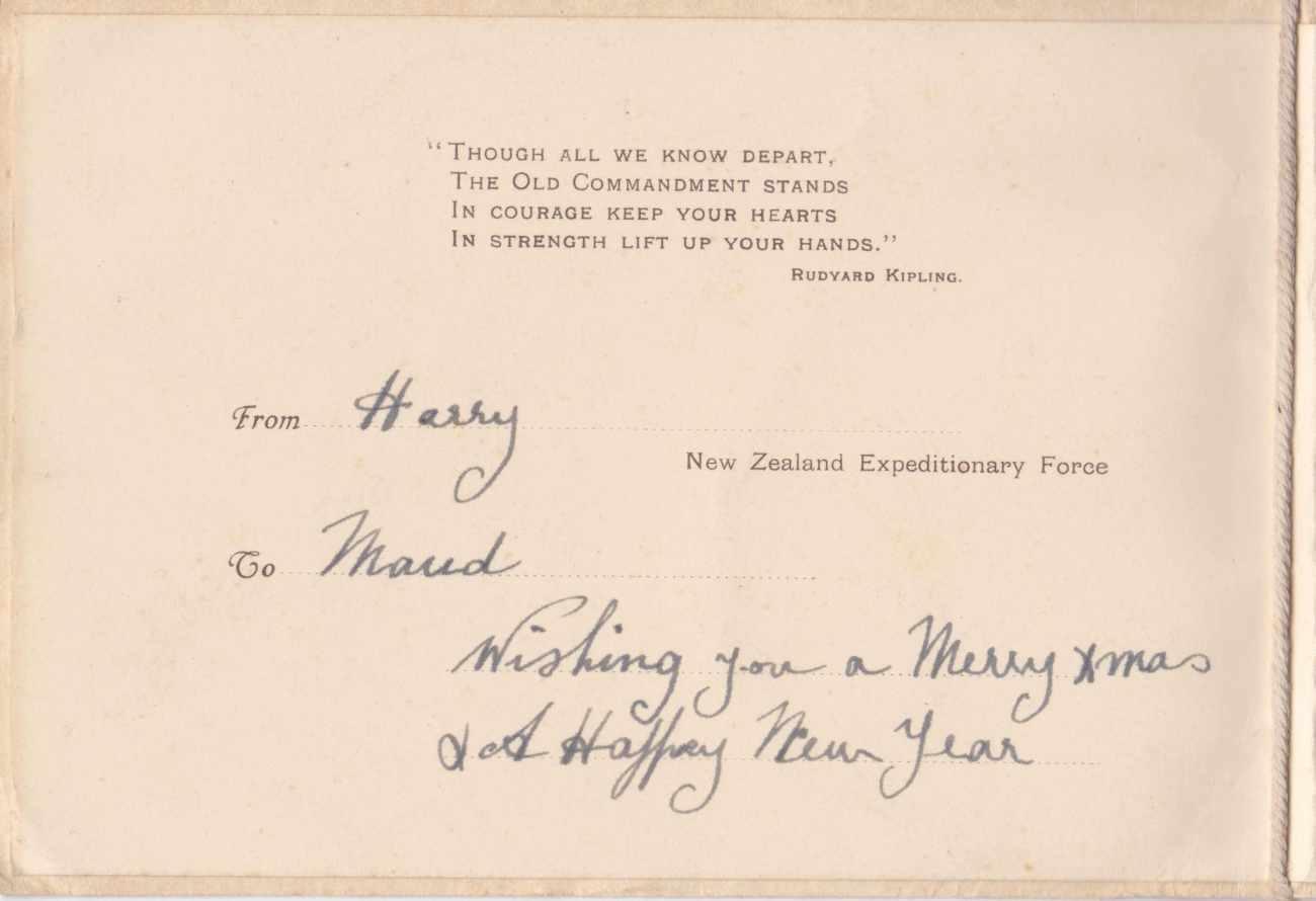 Xmas Card 1917 Centre