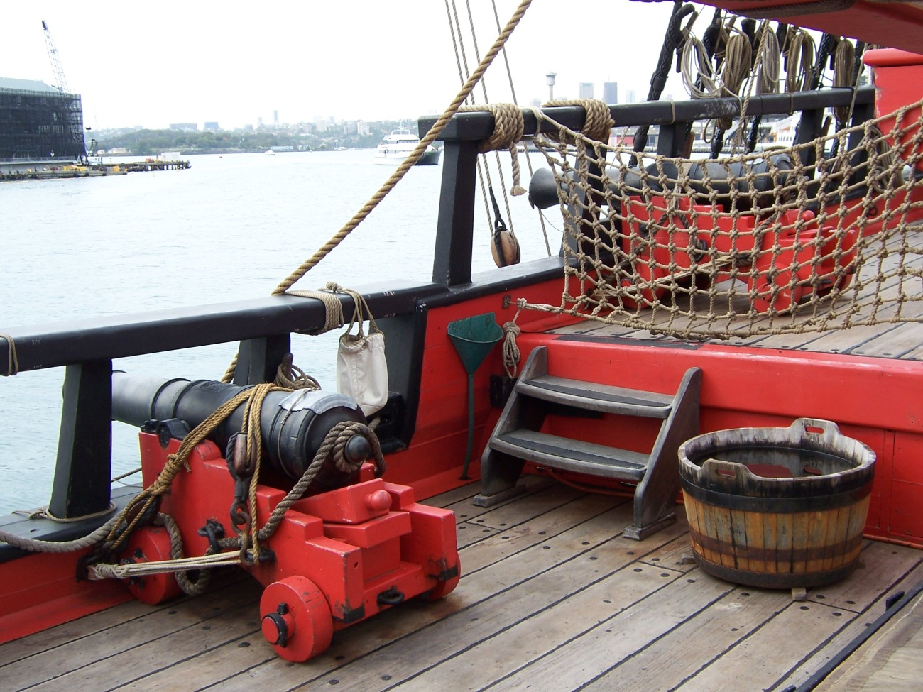 Cannons on replica Endeavour